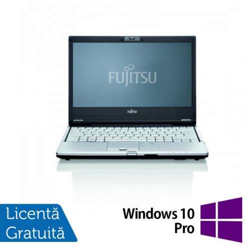 Notebook SH Refurbished Fujitsu Siemens Lifebook S760 Intel Core i5-560M 2.66Ghz, 4GB DDR3, 160GB SATA, DVD-RW, Wi-Fi, 13.3 Inch + Windows 10 Pro