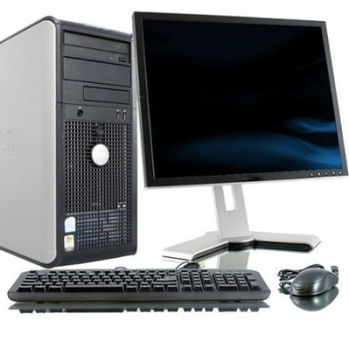 Pachet PC Dell Optiplex 380 tower, Core 2 Duo E8400, 3.0Ghz, 4GbDDR3, 250Gb HDD, DVD cu monitor LCD