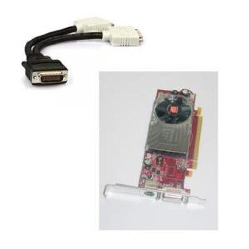 Placa Video Ati Radeon HD 3450, 256mb, PCI-express, DMS-59, S-Video, low profile design + adaptor DMS-59 la 2 x DVI