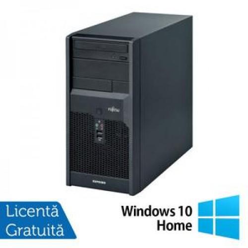Calculatoare Fujitsu P3521, Intel Dual Core E5800, 3.2GHz, 4Gb DDR3, 320Gb SATA, DVD-RW + Windows 10 Home
