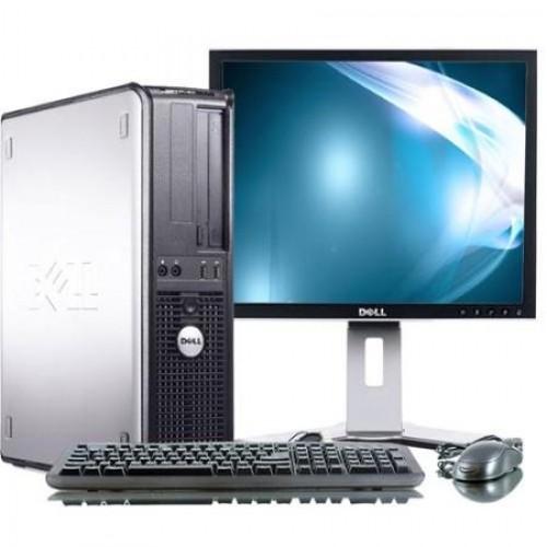 Pachet unitate PC Dell Optiplex 330 Desktop, Intel Dual Core E2160 1.80Ghz, 2Gb DDR2, 80Gb, DVD-ROM cu monitor LCD