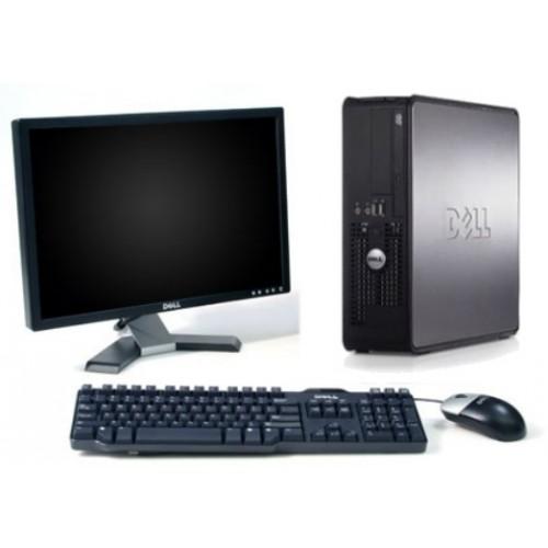 PC Second Hand Dell Optiplex 380 Desktop,  Core 2 Duo E8200, 2.67Ghz, 2 Gb DDR2, 160Gb HDD, DVD-RW cu Monitor LCD