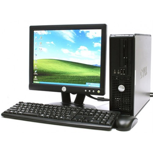 PC SH Dell Optiplex 755 Desktop, Intel Dual Core E2160 1.8GHz, 2Gb DDR2, 80Gb SATA, DVD-ROM cu Monitor 15 inch LCD