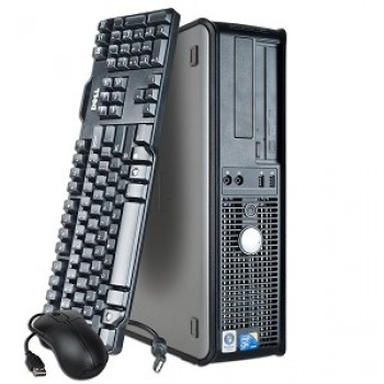 Calculator  Dell Optiplex 780 Desktop, Intel Quad Core Q9400 2.66GHz, 4GB DDR3, 250GB SATA, DVD-RW