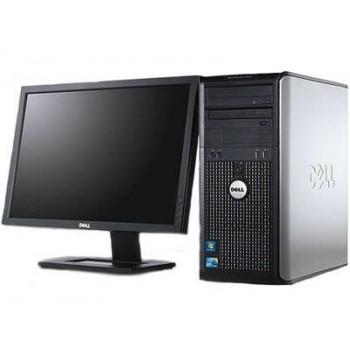 PACHET Calculator Dell Optiplex 780 Tower, Intel Core 2 Quad Q6600 2.40GHz, 4Gb DDR3, 250GB SATA, DVD cu Monitor LCD