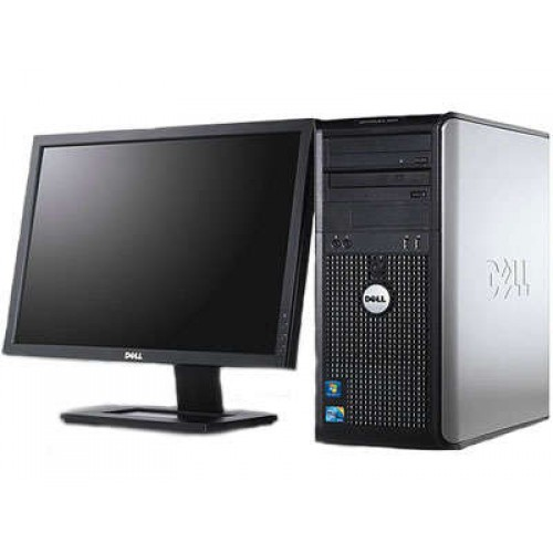 PACHET Calculator Dell Optiplex 780 Tower, Intel Core 2 Quad Q6600 2.40GHz, 4Gb DDR3, 250GB SATA, DVD cu Monitor LCD