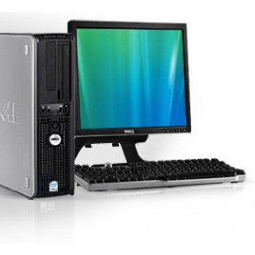 PACHET Dell Optiplex 740 Desktop Dual Core AMD X2 4400+ 2.30GHz, 2Gb DDR2, HDD 160Gb, DVD-ROM cu Monitor LCD
