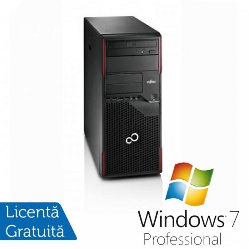 PC FUJITSU SIEMENS Esprimo P710, Intel Pentium Dual Core G2020 2.90GHz, 4GB DDR3, 500GB SATA, DVD-RW + Windows 7 Pro