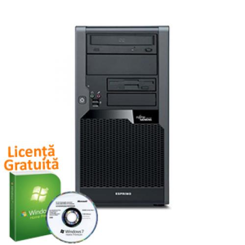 Unitate Calculator PC SH Fujitsu Siemens esprimo P7936, Intel Core 2 Quad Q9550, 2.83Ghz, 12Mb Cache, 4Gb DDR3, 250Gb, DVD-RW + Windows 7 Premium