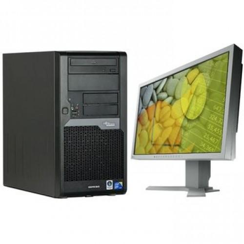 Calculator Fujitsu Esprimo P7935 Intel Core 2 DUO E7500  2.93 Ghz, 2Gb DDR2 160Gb, DVD-ROM + Monitor LCD ***