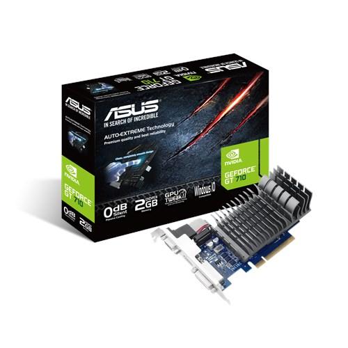 Placa video gaming Asus NVIDIA 710-2-SL, GT710, PCI-E 2.0, 2048MB DDR3, 64bit, 954 Mhz - Fortnite, CS-GO, GTA 5