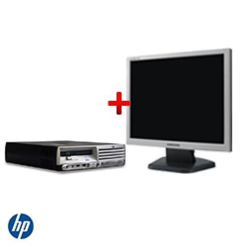 Pachet sh HP DC7600 USFF, Pentium D Dual Core 2.8 GHz, 1024 MB, 80 GB, DVD-ROM + Monitor LCD ***