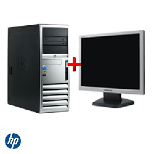 Pachet Unitate PC HP Compaq DC7700, Tower, Core 2 Duo E6400 2,13Ghz, 1GB DDR2, 80GB HDD, DVD-ROM + Monitor LCD ***