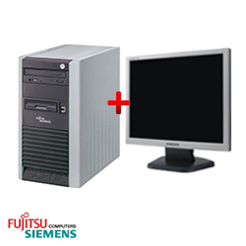 Pachet second hand Fujitsu Scenic P300, Tower, Pentium 4 2.8 GHz, 1GB DDR, 40GB HDD, CD-RW + Monitor LCD ***