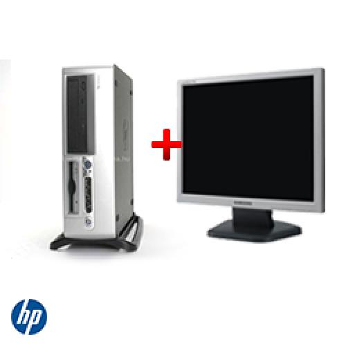 Pachet Unitate PC HP Compaq D530 SFF, Intel Pentium 4 2.8GHz, 1GB DDR, 40GB HDD, CD-RW + Monitor LCD ***