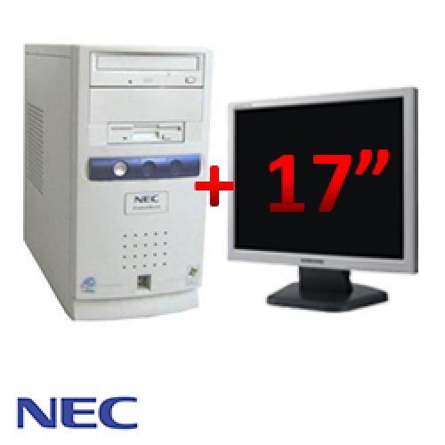 Pachet NEC PowerMate VL6, Intel Pentium 4 2.8GHz, 1GB DDR, 40GB HDD, CD-ROM + Monitor LCD 17 inch ***