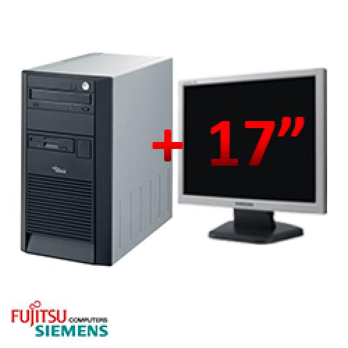 Pachet sh Fujitsu SCENIC Edition X102, Tower, Intel Pentium 4 2.8 GHz, 1GB DDR, 40GB HDD, CD-RW + Monitor LCD 17 inch ***