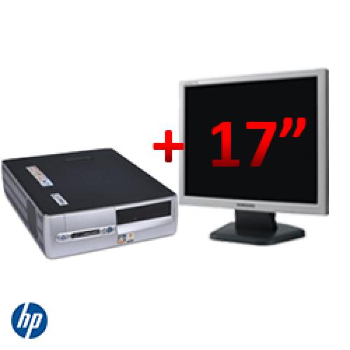 Pachet HP DX5150 SFF, AMD Athlon 64 3200+, 1GB DDR, 80GB HDD, CD-ROM + Monitor LCD 17 inch ***