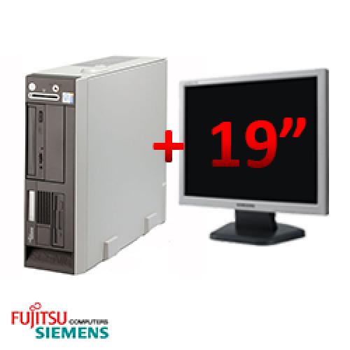Pachet Fujitsu Siemens Scenic N600 Desktop Intel Pentium 4 2.8GHz, 1GB DDR, 40GB HDD, DVD-ROM + Monitor LCD 19 inch ***