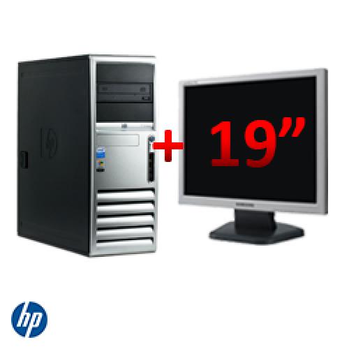 Calculator HP Compaq DC7700, Tower, Core 2 Duo E6400 2,13Ghz, 1GB DDR2, 80GB HDD, DVD-ROM + Monitor LCD 19 inch ***