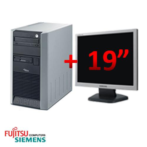 Pachet sh Fujitsu Scenic P320, Tower, Intel Pentium 4 2.8GHz, 1GB DDR, 80GB HDD, DVD-ROM + Monitor LCD 19 inch ***