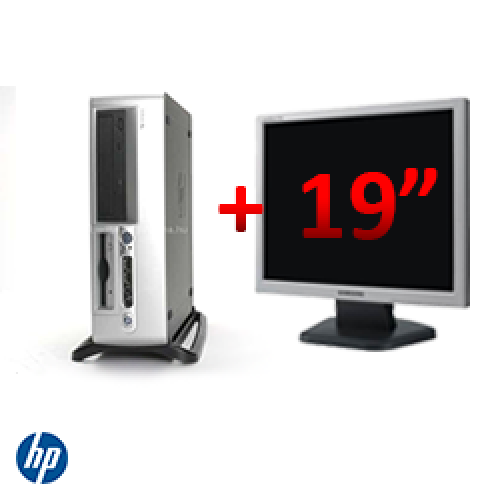 Promotie PC HP Compaq D530 SFF, Intel Pentium 4 2.4GHz, 512MB DDR, 40GB HDD, CD-ROM + Monitor LCD 19 inch ***