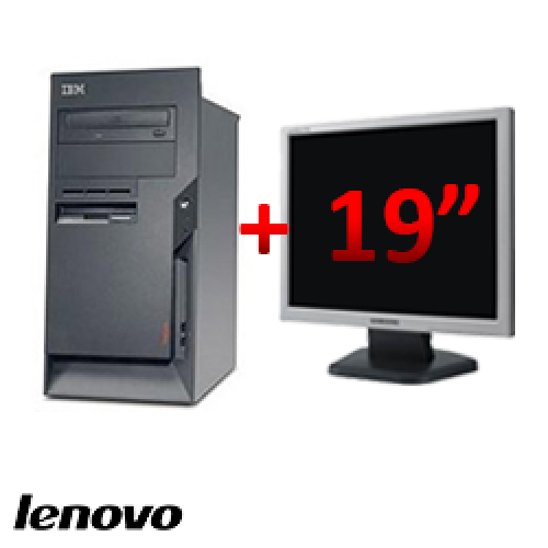 PC Second Hand Lenovo ThinkCentre M50 8189, Tower, Pentium 4, 2.8 GHz, 1GB DDR, 40GB HDD, CD-ROM + Monitor LCD 19 inch ***