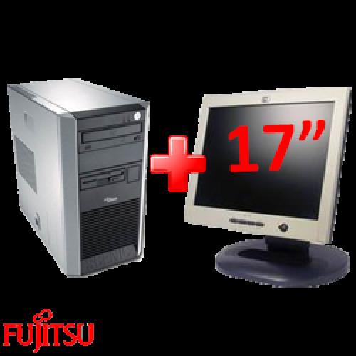 Pachet Fujitsu P300, Celeron 2.6Ghz, 1Gb, 80Gb + Monitor LCD 17 inci Grad A lux