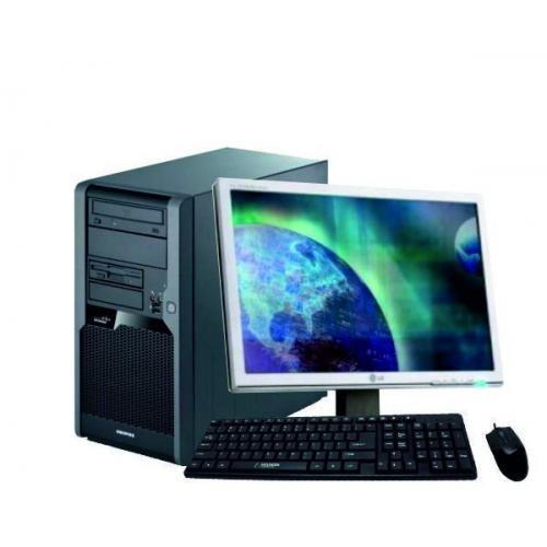 Pachet PC+LCD Fujitsu P5731, Intel Core 2 Duo E8400 3.0Ghz, 2Gb DDR3, 250GB SATA, DVD-RW