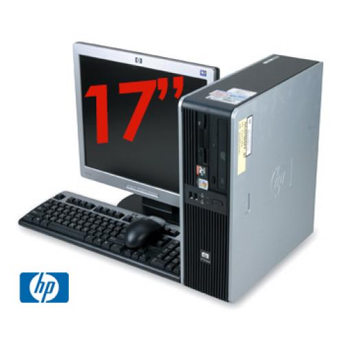PachetHp DC5750 SFF, Procesor AMD Athlon 64 x2 3800+ , 1Gb RAM DDR2 Memorie ,HDD 80Gb, Unitate optica DVD-ROM + Monitor LCD 17 Inch ***