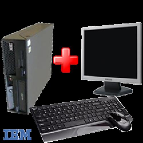 Pachet PC IBM M57 6072, Dual Core E6300, 1.8Ghz, 1Gb DDR2, 80Gb SATA2, Combo + Monitor LCD