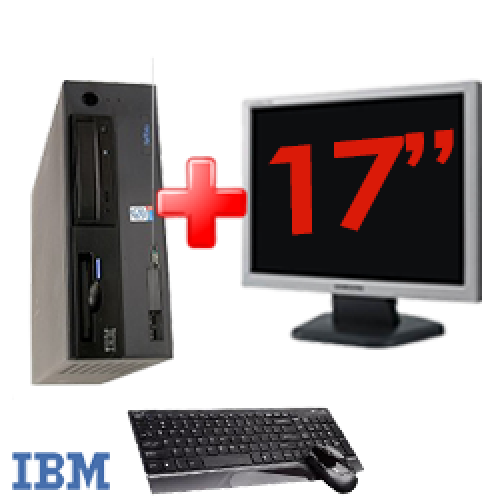Super Pachet Unitate PC IBM 9482, Intel Pentium Dual Core E2160, 1.8Ghz,Memorie RAM 1Gb DDR2, 80Gb HDD,Unitate optica DVD-ROM + Monitor de 17 Inch ***