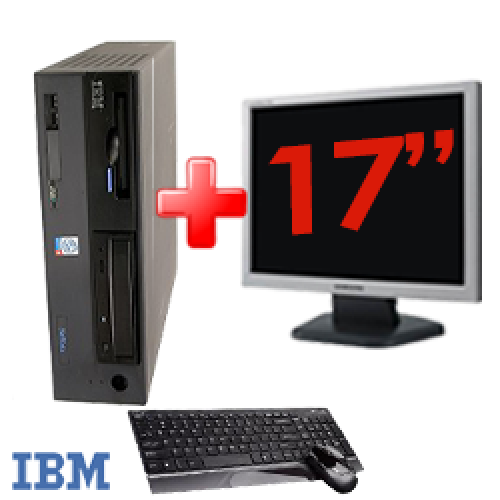 Pachet PC SH IBM ThinkCentre 8305,Procesor Pentium 4 2.4Ghz, Memorie RAM 1Gb, 40Gb HDD, DVD-ROM Unitate Optica + Monitor LCD 17 Inch ***