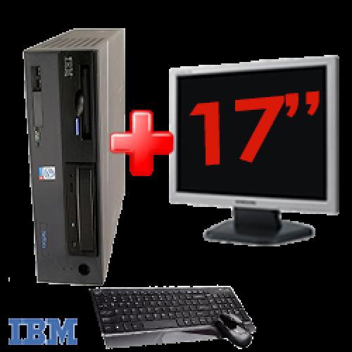 Pachet PC SH IBM ThinkCentre 8305,Procesor Pentium 4 2.4Ghz, Memorie RAM 1Gb, 40Gb HDD, DVD-ROM Unitate Optica + Monitor LCD 17 Inch ***