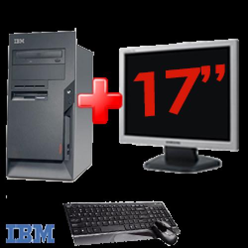 Pachet PC Desktop IBM ThinkCentre A52-8343, Procesor Intel Celeron 3000hz,Memorie RAM 1Gb, HDD 80Gb, DVD-ROM+ Monitor LCD 17 inch ***