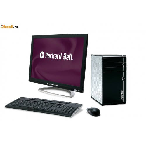 Unitate PC Packard Bell iMedia S1710 Second Hand, Intel Core 2 Duo E6850 3.0GHz, 2Gb DDR2, 160Gb HDD, DVD-RW cu Monitor LCD ***