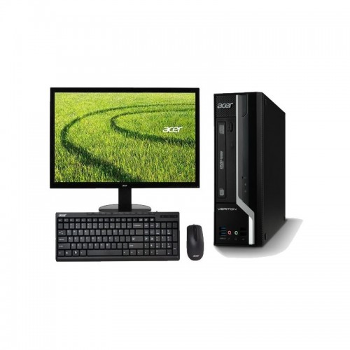 Pachet PC+LCD Acer Veriton X2631G desktop, Intel Core i3-4130 3.40GHz , 4Gb DDR3, 250Gb SATA , DVD