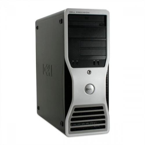 Workstation DELL Precision T5400, Intel Xeon Quad Core X5450 3.00GHz, 8GB DDR2, 250GB SATA, DVD-ROM, Second Hand