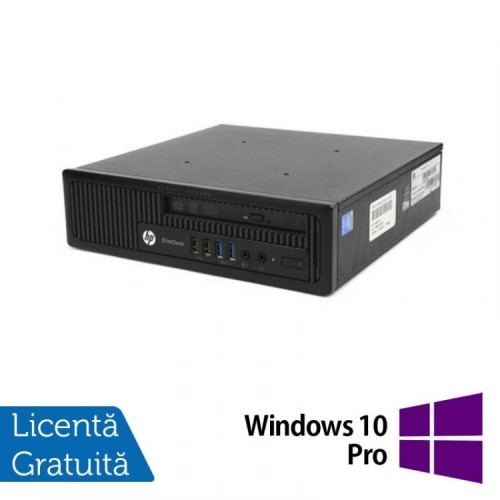 Calculator Refurbished HP Compaq EliteDesk 800 G1 USDT, Intel i5-4570s, 4GB DDR3, 500GB HDD, DVD-ROM + Windows 10 Pro