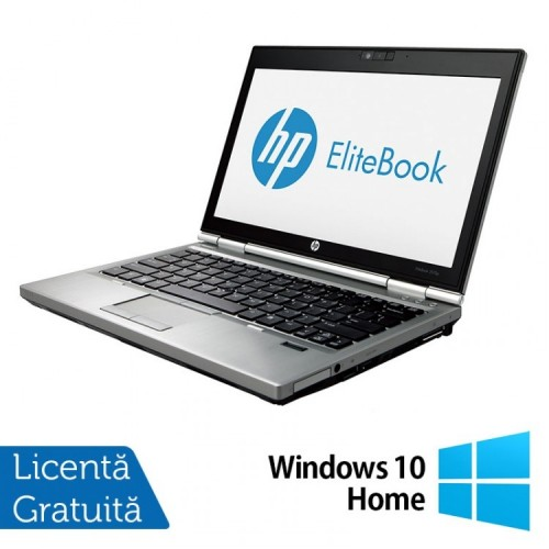 Laptop Hp EliteBook 2570p, Intel Core i5-3230M 2.60GHz, 4GB DDR3, 240GB SSD, DVD-RW, 12,5 Inch LED-backlit HD, DisplayPort + Windows 10 Home, Refurbished