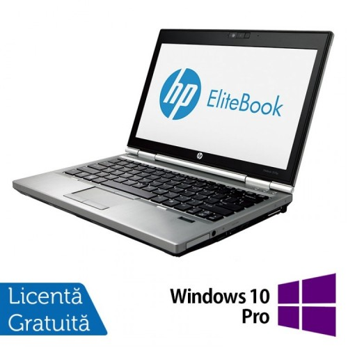 Laptop Hp EliteBook 2570p, Intel Core i5-3230M 2.60GHz, 4GB DDR3, 240GB SSD, DVD-RW, 12,5 Inch LED-backlit HD, DisplayPort + Windows 10 Pro, Refurbished
