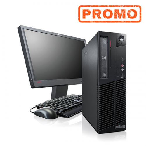 Pachet PC+LCD Lenovo Thinkcentre M91p, Intel Core i5-2400s 2.5Ghz, 4Gb DDR3, 250Gb HDD, DVD-RW