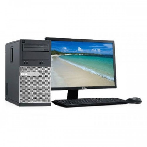 Pachet monitor + unitate PC Dell Optiplex 790 MiniTower Intel i5-2400, 3.10Ghz, 8Gb DDR3, 500Gb SATA, DVD-RW