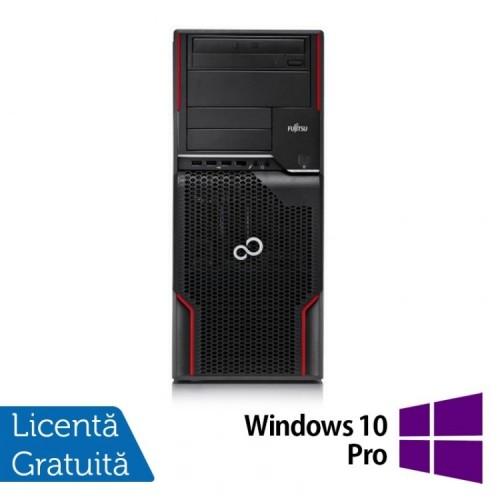 Workstation FUJITSU CELSIUS W510, Intel Core i5-2400S 2.5GHz, 8GB DDR3, 1TB SATA, Placa video nVidia GT605/1GB, DVD-ROM + Windows 10 Pro, Refurbished