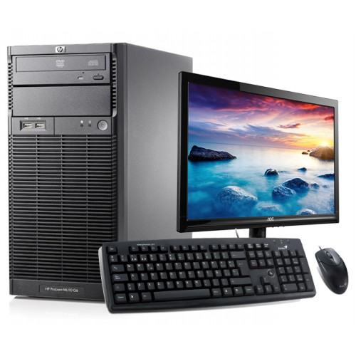 Pachet HP ML110,  XEON QUAD CORE 2.4Ghz, 2Gb, 250Gb SATA, DVD-ROM cu Monitor LCD 15 inch