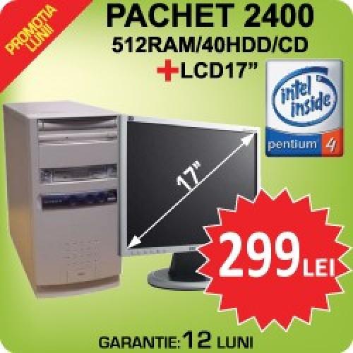 Sistem P4 2400/512ram/40Ghdd+LCD17