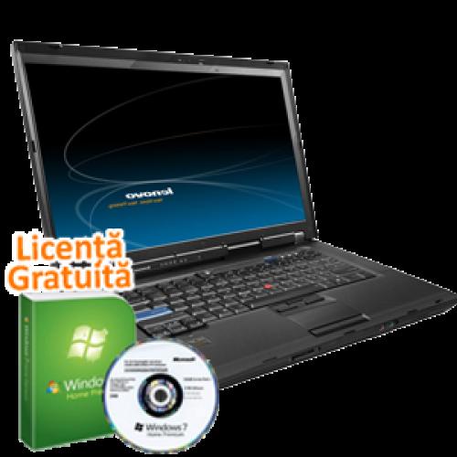 Laptop Lenovo R500, Intel Core 2 Duo T5870, 2.0Ghz, 4Gb DDR3,  160Gb HDD, DVD-RW, 15 Inch Wide Windows 7 Premium