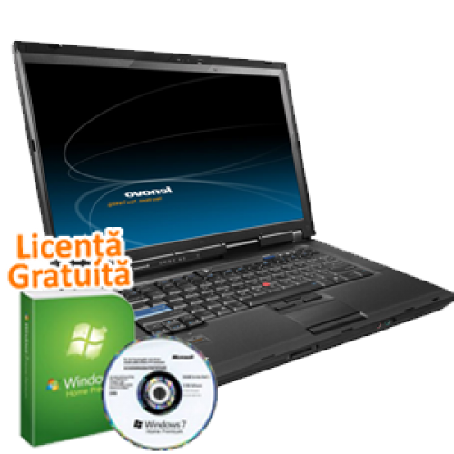 Laptop Lenovo R500, Intel Core 2 Duo T5870, 2.0Ghz, 4Gb DDR3,  160Gb HDD, DVD-RW, 15 Inch Wide Windows 7 Professional