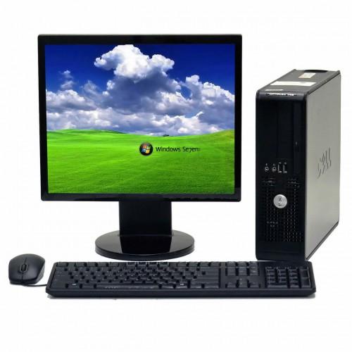 Pachet PC+LCD Dell Optiplex 755 Desktop, Intel Core 2 Duo E6550 2,33GHz , 4Gb DDR2 , 160Gb SATA , DVD