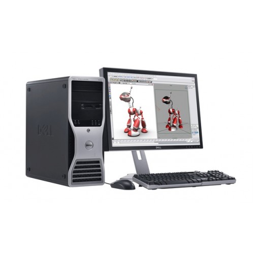 Pachet Dell Precision 490 Workstation, Intel Xeon 5110 1.60GHz Dual Core, 8GB DDR2, 80GB SATA, DVD-ROM + Monitor 15 inch***